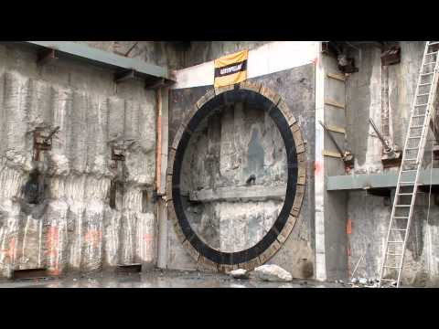 tunnel - Watch how a subway tunnel is constructed and witness the latest breakthrough of tunnel boring machine