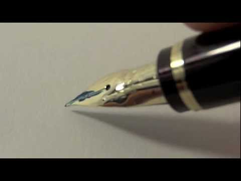 custom - Custom Namiki Falcon Resin Fountain Pen modified by John Mottishaw. He ground the nib (14k) extra fine and added flex to it (Spencerian customization). The ...