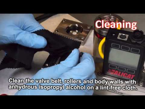 Alicat Rolamite Valve Cleaning (in real time)