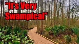 """We thoroughly enjoy Palmetto Island State Park in Louisiana and take you on a """"swampical"""" tour of the RV park and campground. We find beautiful walkways, hiking trails, turtles, armadillos, wild boar and a lizard; but still no alligators.We came all this way to experience the bayou in Louisiana. We start with a quick one nighter at Sam Houston Jones State Park outside of Lake Charles, Louisiana. We walk around and explore the state park, the """"Watch for Alligator"""" signs and drive through the park with the RV. We do a zig zag down to southern Louisiana with a lot of left turn, right turns to get to Palmetto Island State Park. We enjoy the drive and love pulling into the state parks and seeing something new around every corner.We enjoy a few quiet and peaceful days at Colorado River Thousand Trails in Columbus, Texas. We give an aerial tour of the campground and visit the nearby river before heading out. On our way out to Louisiana, we venture through historic town of Columbus, TX and worry about the Houston traffic on I10.Don't forget, we are """"totally"""" social so check out the links below :http://www.totally-trailer.comEmail totallytrailer@gmail.comFacebook: www.facebook.com/totallytrailerTwitter: @totallytrailerInstagram: totally_trailerMusic is found on epidemicsound.com""""Car Songs 1"""" Composer: Gunnar Johnsen*****List of items that appear in this video:weBoost Connect 4G Cell Phone Signal Boosterhttp://amzn.to/2i5NpN05' Steel Tubing - 16 Gauge Steel Mast Pipe with Locking Jointshttp://amzn.to/2ipFBGaRV Flag Pole Kit Motorhome Flag Kit by FlagPole Buddy 22 Feethttp://amzn.to/2hUKia9RV Flag Pole Multi-Colored Solar Beaconhttp://amzn.to/2hUHtGaCamco 40043 TastePURE Water Filter http://amzn.to/2iqvH7lSupreme Wheel Chock- 2 Packhttp://amzn.to/2isKD0QValterra A01-1117VP Brass Lead-Free Adjustable Water Regulatorhttp://amzn.to/2iKQb73Camco 22505 90 Degree Hose Elbowhttp://amzn.to/2ie8BQyCamco 20123 Brass Water Wye Valvehttp://amzn.to/2hygRtFCamco 22833 Premium Drinking Water"""