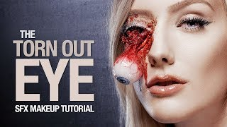 Halloween Torn out FAKE eye makeup tutorial