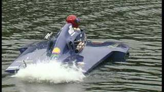 Karapiro New Zealand  city images : Speedboats on Lake Karapiro New Zealand 2006.