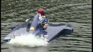 Karapiro New Zealand  City pictures : Speedboats on Lake Karapiro New Zealand 2006.