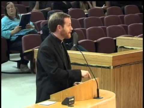 City Council - Father Nathan Monk tells the City Council,