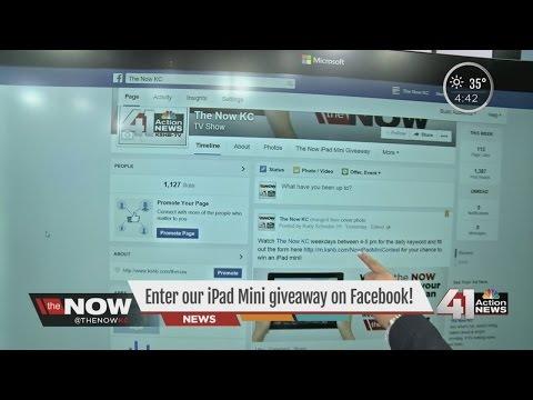 Step-by-step instructions on how to win the iPad Mini from the Now KC