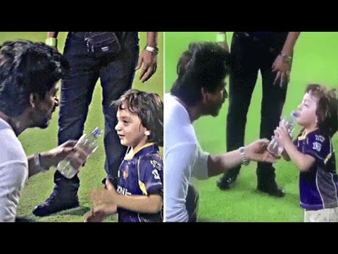 Shah Rukh Khan-AbRam CUTE IPL 2016 VIRAL VIDEO