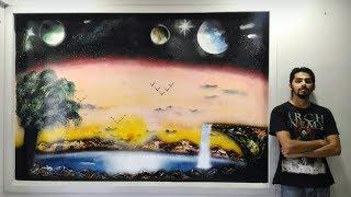 THE TERRA-GALACTIC ARC - Spraypaint art by Mihir Godbole