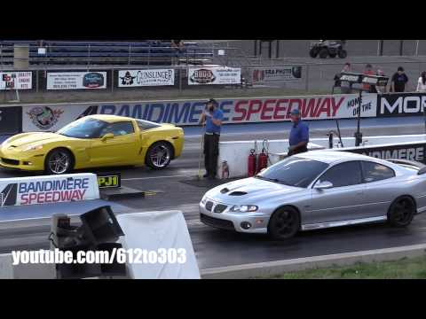 corvette z06 vs ls2 pontiac gto - drag race