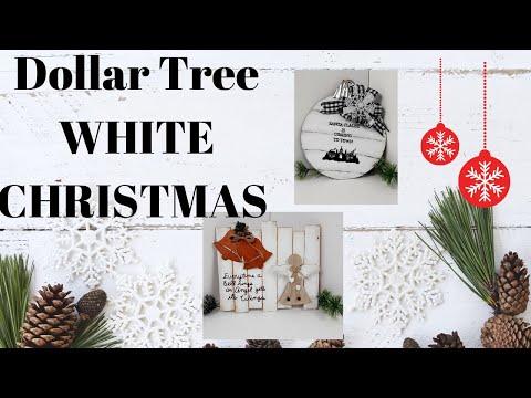 FARMHOUSE CHRISTMAS   WHITE CHRISTMAS COLLAB 2020   DOLLAR TREE DIY'S