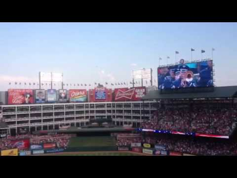 4th of July National Anthem and flyover.