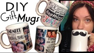 DIY Personalized Mug | EASY CHEAP CHRISTMAS GIFT | Step by Step Tutorial - YouTube
