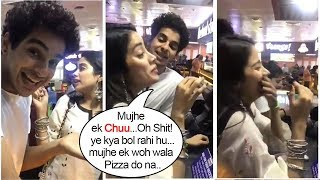 Video Jhanvi Kapoor's Most EMBARRASSING Moment Ordering Pizza In Public After Dhadak Promotions MP3, 3GP, MP4, WEBM, AVI, FLV Agustus 2018