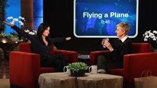Courteney Cox Plays 'Heads Up!' with Ellen