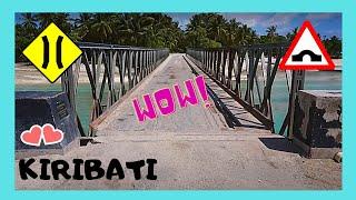 KIRIBATI, bridge, remote islands (Tarawa Atoll, Central Pacific): Let's cross Friendship Bridge which connects two remote islands i the Tarawa Atoll of the ...