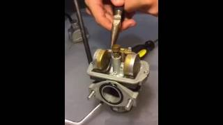 7. Speeded up, taking off carburetor (2007 CRF 80)