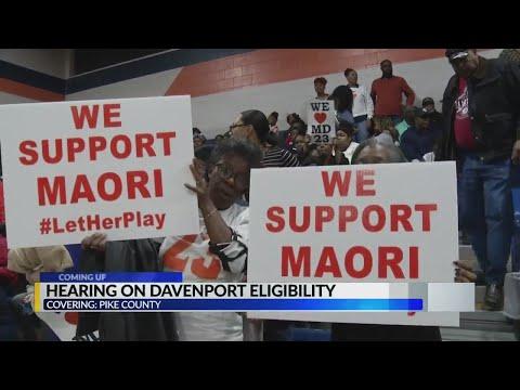 Today: Maori Davenport eligibility hearing