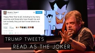 Video Mark Hamill Reads Donald Trump Tweet As The Joker (Best Audio) MP3, 3GP, MP4, WEBM, AVI, FLV Maret 2018