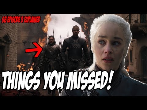 Things You MISSED! Game Of Thrones Season 8 Episode 5 (Explained)