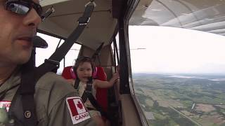 Four Year Old Has The Best Time On First Aerobatic Flight