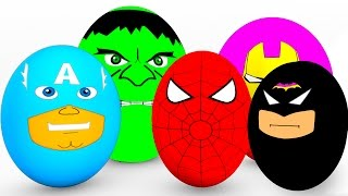 Video Learn Colors SURPRISE EGGS for Babies - Spiderman Cars Educational Video - Bus Superheroes for Kids MP3, 3GP, MP4, WEBM, AVI, FLV Mei 2017