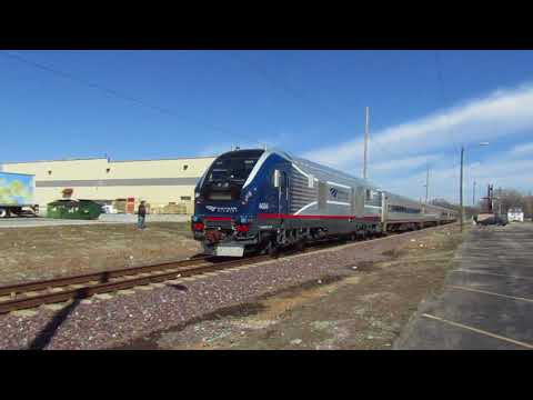 Amtrak 301 at Springfield, IL - March 10, 2018