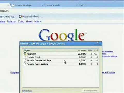 Video 16 de Google Chrome: Pequeño tutorial de Google Chrome en español