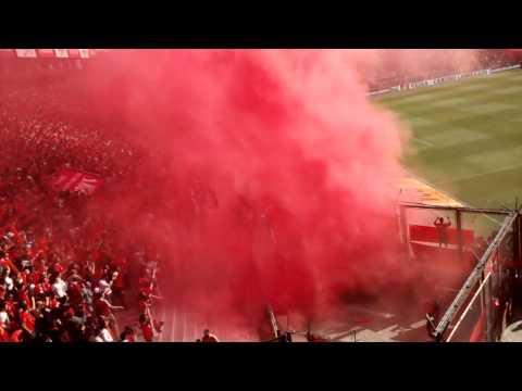 Independiente 3 - Racing 0 12/09/15 Recibimiento - La Barra del Rojo - Independiente