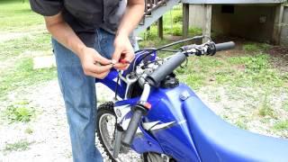 8. Changing front Fork Oil on dirt bike Yamaha TTR90 shock spring spacer too!