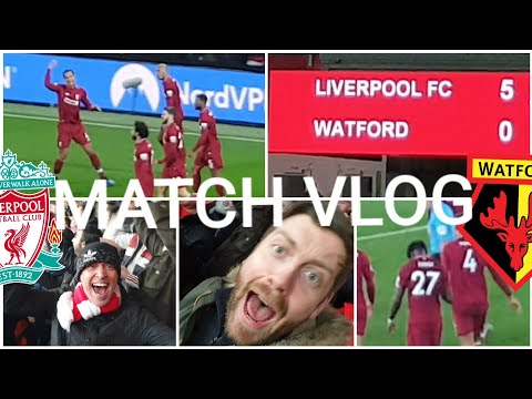 Mane Backheels And Big Virgil Headers! LIVERPOOL 5-0 WATFORD MATCH VLOG