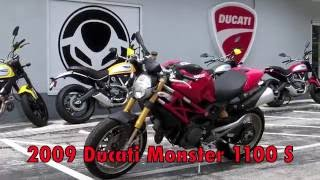 10. Pre-Owned 2009 Ducati Monster 1100 S Red at Euro Cycles of Tampa Bay