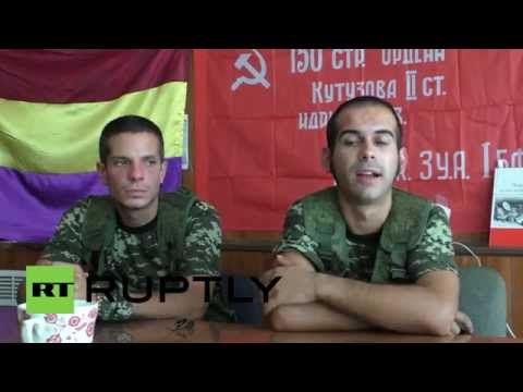 Ukraine: Meet the Spanish volunteers fighting Kiev's military offensive