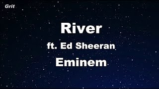 River ft. Ed Sheeran - Eminem Karaoke 【No Guide Melody】 Instrumental