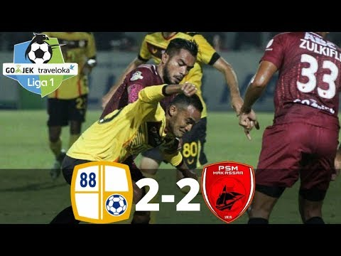 Barito Putera vs PSM Makassar 2-2 - All Goals & Highlights - Liga 1 - 29/10/2017