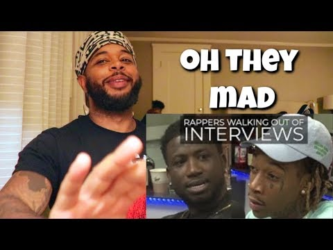 Rappers Walking Out Of Interviews | Reaction