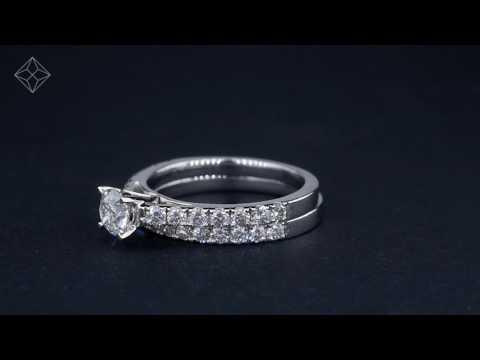 UT56 - Platinum Set Natalia Diamond Wedding & Engagement Ring Set