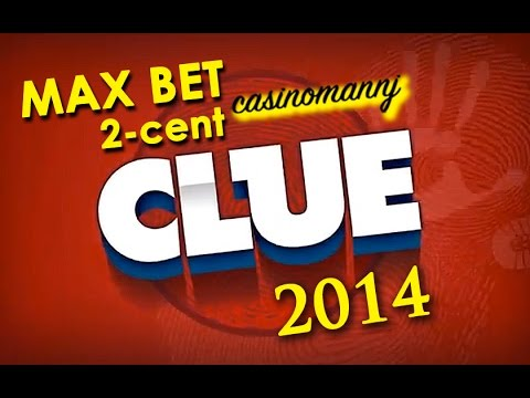 BIG WIN! – 2-cent Clue Slot 2014 – MAX BET! –  Slot Machine Bonus (Casinomannj 2014)