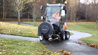 2. Leaf blower attachment on a front mower