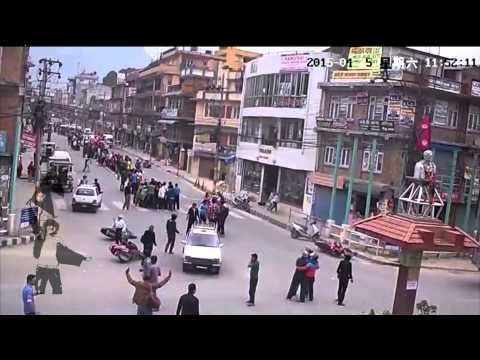 (LIVE CCTV Footage During Earthquake in Nepal - Duration: 1:24.)