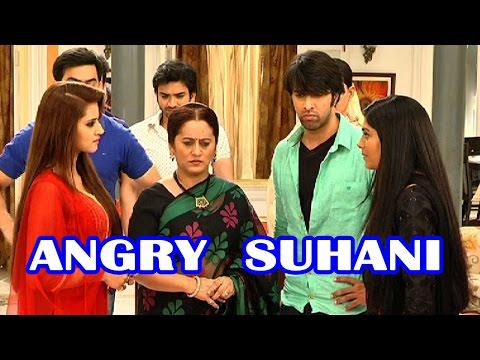 Whom is Suhani angry with?
