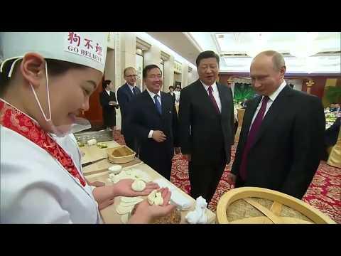 CHINA-BESUCH: Der russische Präsident Putin probiert  ...