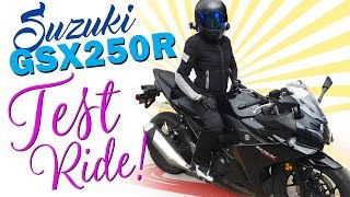 6. 2018 GSX250R Test Ride, Review, Top Speed, Short Rider Perspective