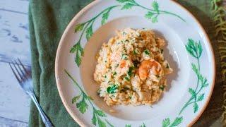 Meeresfrüchte Risotto mit Garnelen