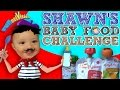 Shawns BABY FOOD Challenge  Babys First Time Trying FUNnel Vision Eating Fun waptubes