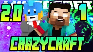 CRAZY CRAFT 2.0 MODDED LET'S PLAY #1 w/NoahCraftFTW&HuskyMudkipz - It all starts here!