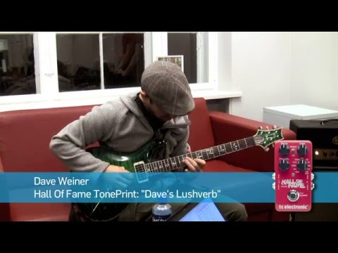 In this video Dave Weiner from Steve Vai Band makes a TonePrint for Hall of Fame Reverb pedal from TC Electronic.  Hall of Fame product page: http://www.tcelectronic.com/hall-of-fame-reverb/ TonePrint: http://www.tcelectronic.com/toneprint/toneprint-guitar/ Dave Weiner artist page: http://www.tcelectronic.com/dave-weiner/