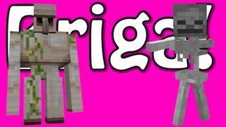 Briga de Golem e Esqueleto! - Minecraft #14