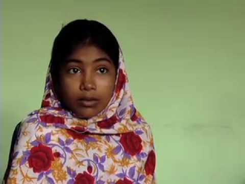 Child Labor: 11 year-old Halima sews clothing for Hanes