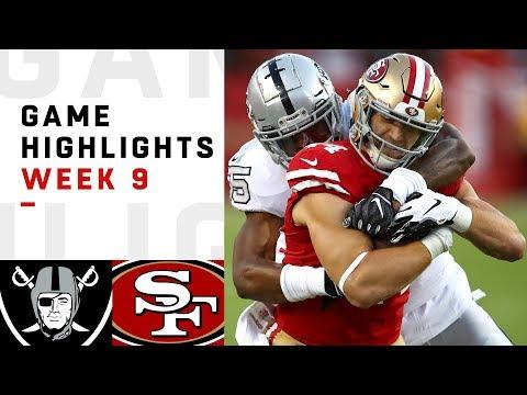 Raiders vs. 49ers Week 9 Highlights | NFL 2018