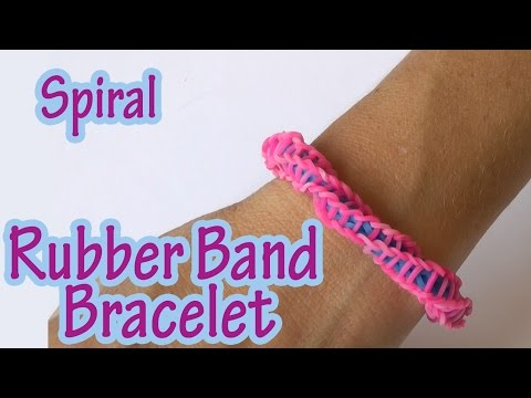 DIY crafts : Spiral Rubber Band Bracelet (without loom)