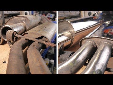 Old BMW E30 Scorpion Exhaust Restoration | BMW E30 325i Sport Restoration E8 S1